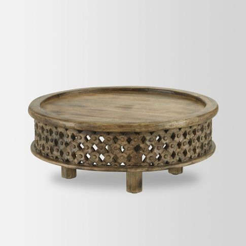Carved Wood Coffee Table Mediterranean Tables