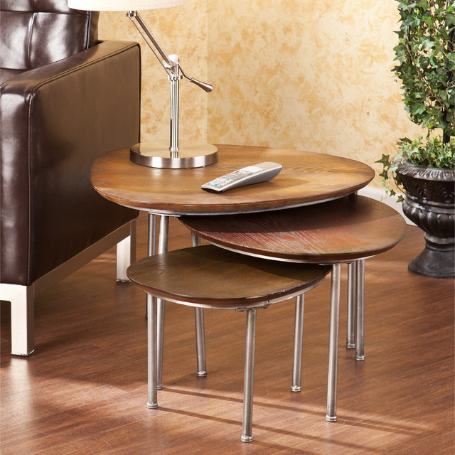 Upton home blakely nesting accent table 3pc set for Modern nest of coffee tables