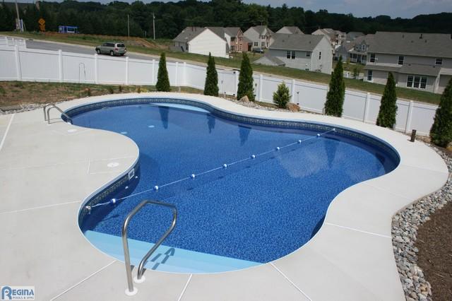 Inground Vinyl Lined Pools Baltimore By Regina Pools