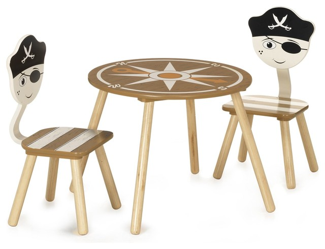 pirate ensemble table et chaises pour enfant contemporain chaise et table enfant par. Black Bedroom Furniture Sets. Home Design Ideas