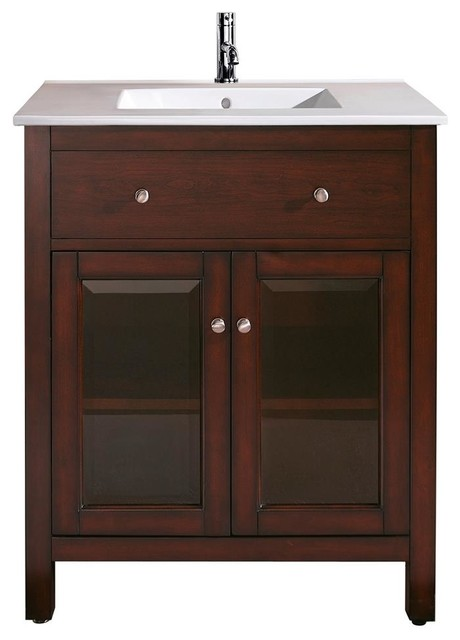 25 In Vanity With Sink Transitional Bathroom Vanities And Sink Consoles By Shopladder