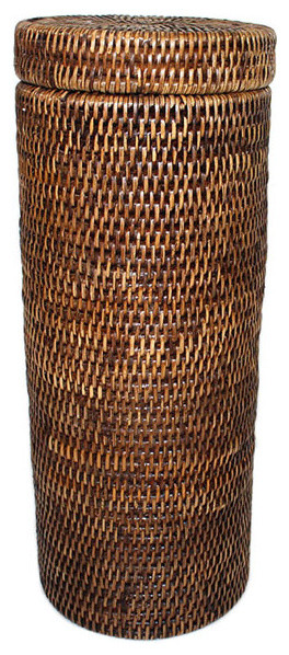 Tissue Paper Roll Basket : Rattan toilet paper roll basket contemporary