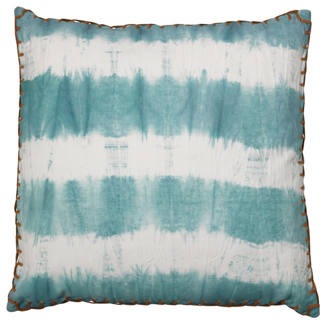 Sky Blue Decorative Pillows : Tie Dye Pillow, Sky Blue - Transitional - Decorative Pillows - by Jamie Young Company