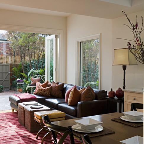 Albert park victorian terrace living room contemporary for Victorian terrace living room ideas