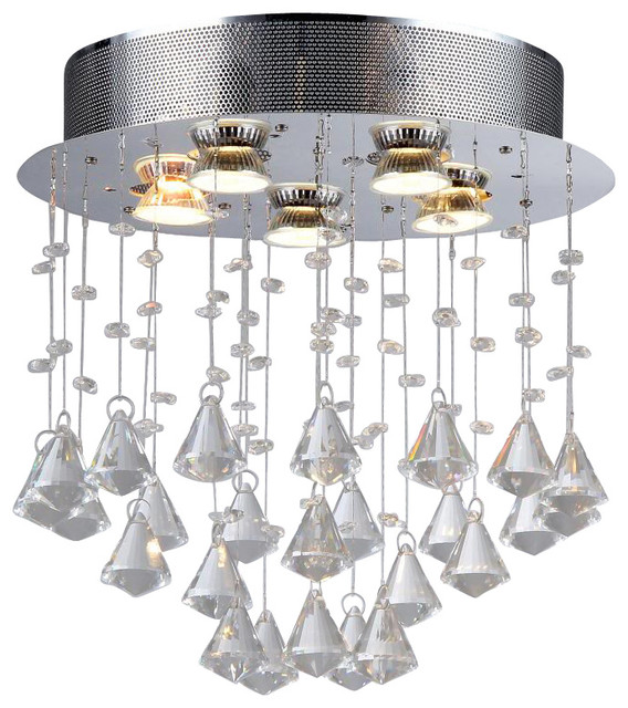Cerda Five Light Crystal Chandelier Contemporary