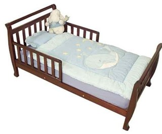 Athena Anna Low Profile Wood Toddler Bed In Cherry