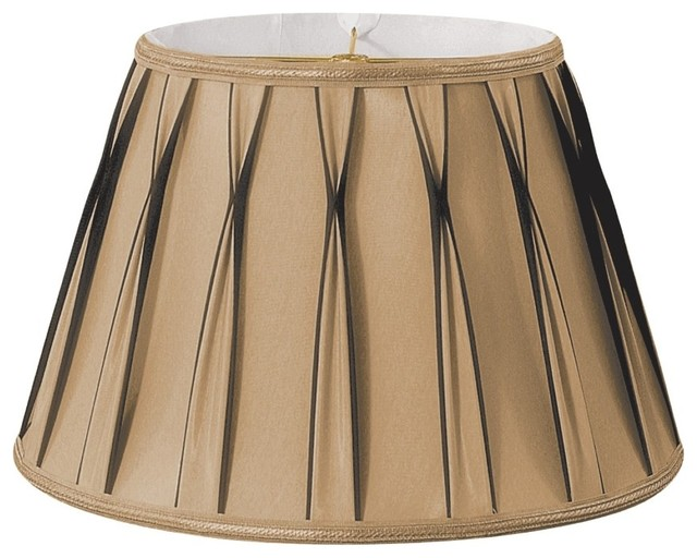 Bowtie Pleated Drum Designer Lampshade Antique Gold  : traditional lamp shades from www.houzz.com size 640 x 512 jpeg 70kB