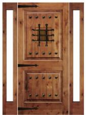 Knotty Alder Mediterranean Style Exterior Doors