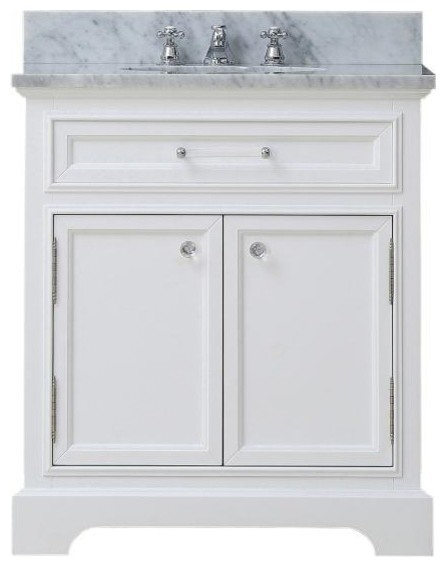 Derby white bathroom vanity 24 wide vanity only for Bathroom design derby
