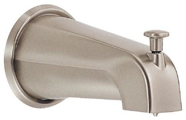 8 In Wall Mount Tub Spout With Diverter In Brushed Nickel Contemporary B