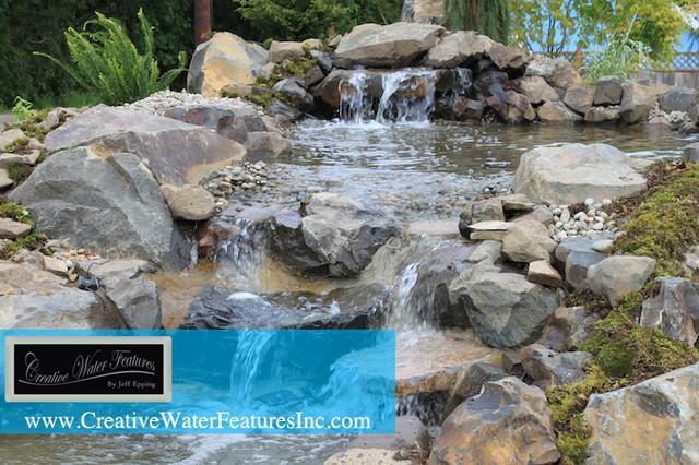 Large Garden Pond Backyard Tropical Orlando By