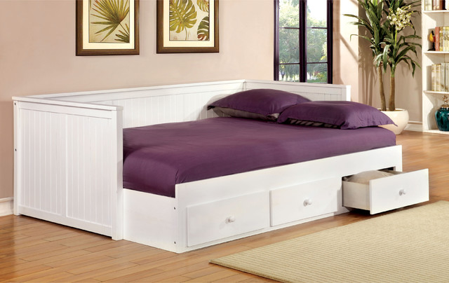 Furniture of america ophelia cottage style full size Daybeds with storage