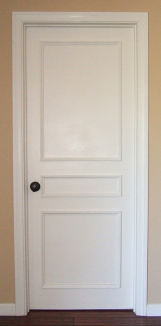 Instant Three Panel Door Moulding Kit - Traditional - Windows And Doors - los angeles - by Luxe ...