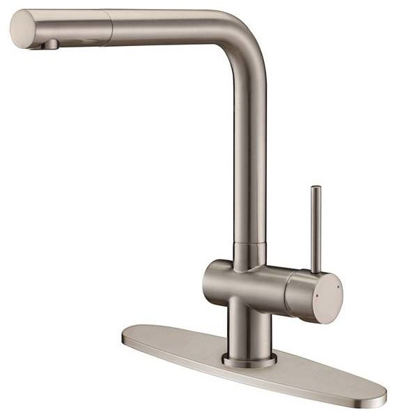 ruvati single handle kitchen faucet with deck plate