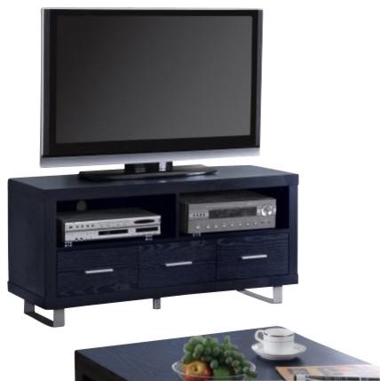 tv console black by coaster modern multimedia m bel. Black Bedroom Furniture Sets. Home Design Ideas