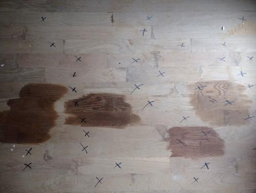 Minwax Stain Samples On White Oak