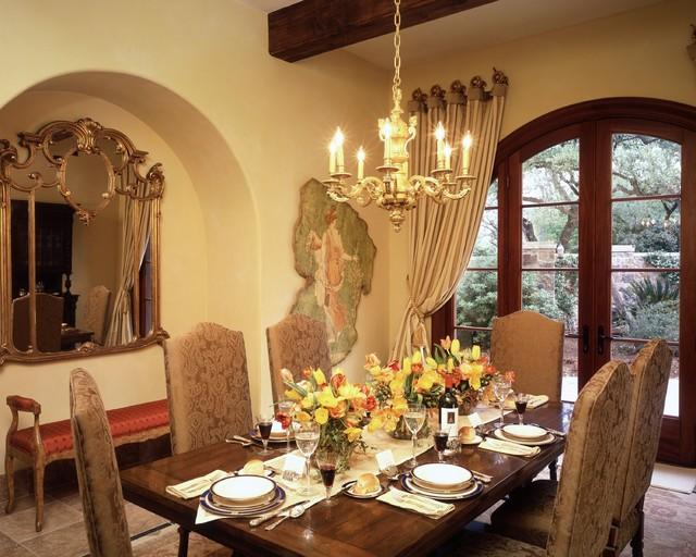 Barton creek italian villa dining room mediterranean for Italian villa interior design