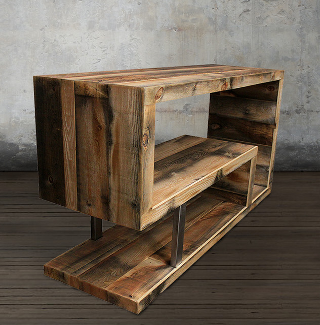 Modern Reclaimed Wood Media Console Modern Console