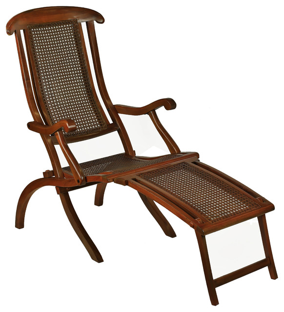French Line Deck Chair Traditional Indoor Chaise