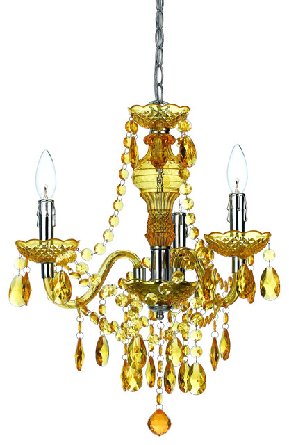 Angelo Home Gold Faux Crystal 3 Light 5 Light Swag Plug