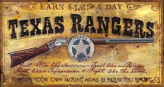 Vintage Signs Teas Ranger Rustic Artwork By
