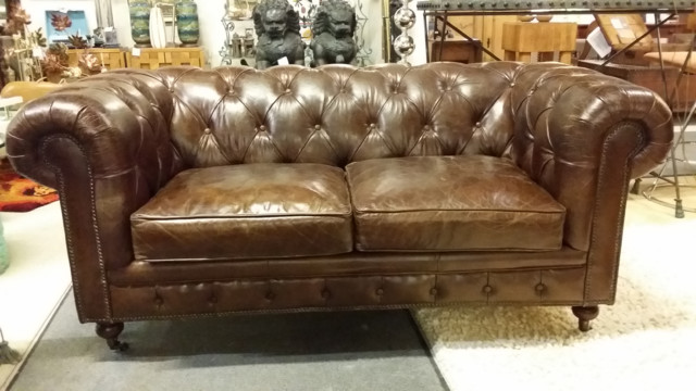 Vintage Leather Chesterfield Sofa Traditional Sofas New York by Umbrella @ The Tomato