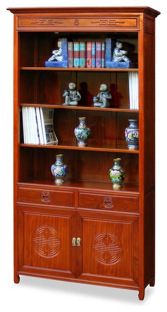 Rosewood longevity design bookcase asian furniture for Rosewood garden designs