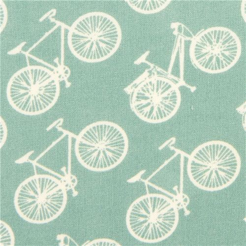 Turquoise Birch Bike Organic Fabric From The Usa Fabric