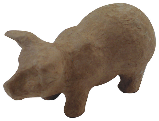 Paper mache figurine pig decorative objects and for Paper mache objects