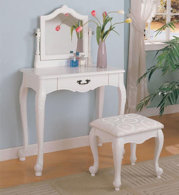 300076 2 Piece Vanity Set Modern Bedroom Makeup Vanities