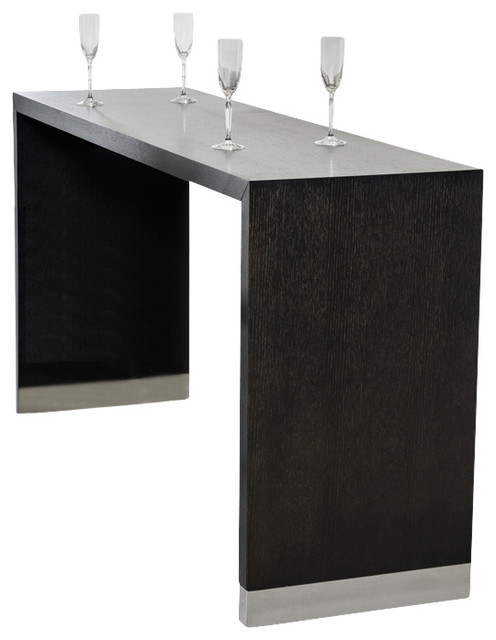 Modrest silas wenge wood bar table modern indoor pub and bistro tables - Table basse bar wenge ...