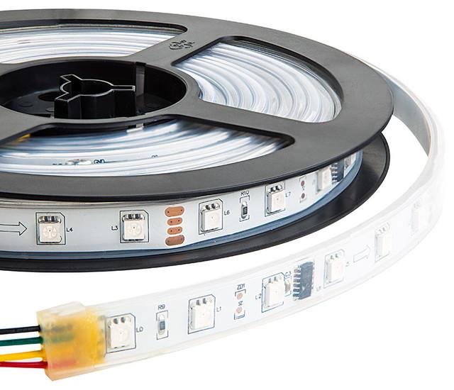 SWDC series Dream-Color Flexible RGB LED Strip - 12 Volt DC - Undercabinet Lighting - st louis ...