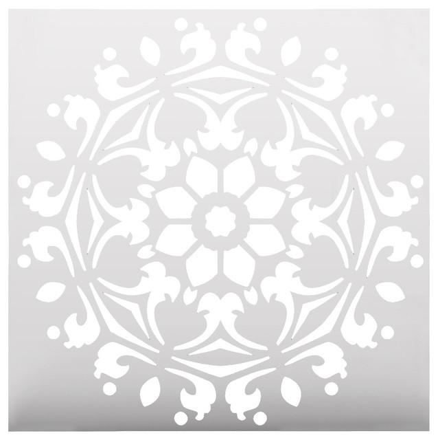 Decorative Symmetrical Mandala Style Stencil