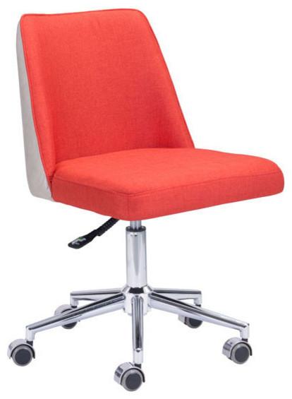 Season fice Chair Orange Beige Modern fice Chairs