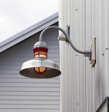 gooseneck light industrial exterior tampa by barn light