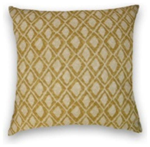 Honey Gold Geometric Throw, 20x20 Pillow Cover with Insert - Traditional - Decorative Pillows ...