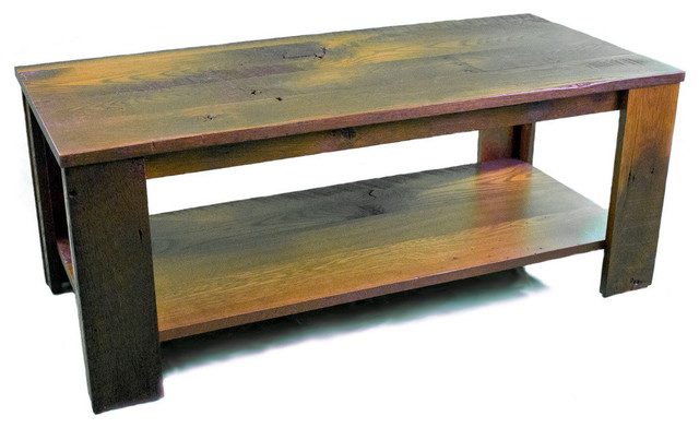 Standard Finish Topeka Coffee Table Red Oak Wood Rustic Coffee Tables By Amish Designs Inc