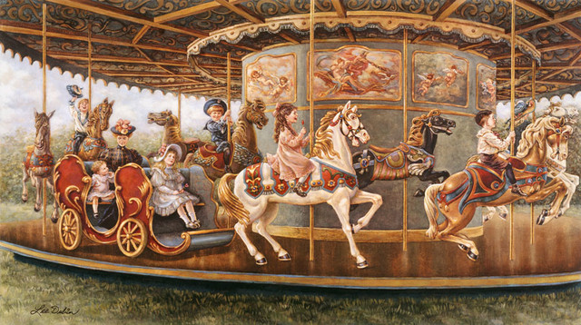 The carousel wall mural traditional wallpaper by for Carousel wall mural