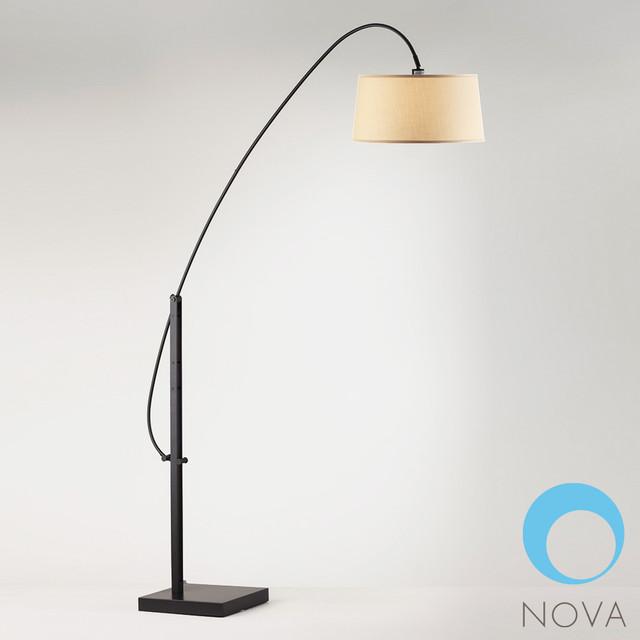 nova elevate arc floor lamp modern floor lamps los angeles by. Black Bedroom Furniture Sets. Home Design Ideas