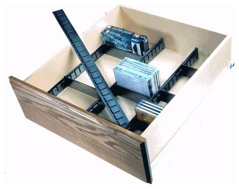 Mega File, Drawer Organizer Kit, Black traditional-kitchen ...
