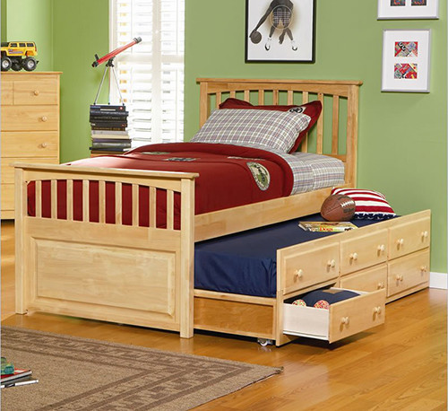 mate s storage bed with 3 drawer trundle bed