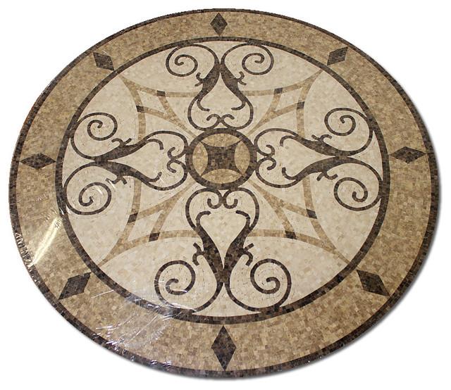 Floor Medallions Inlays : Mosaic polished floor medallions tile medallion marble