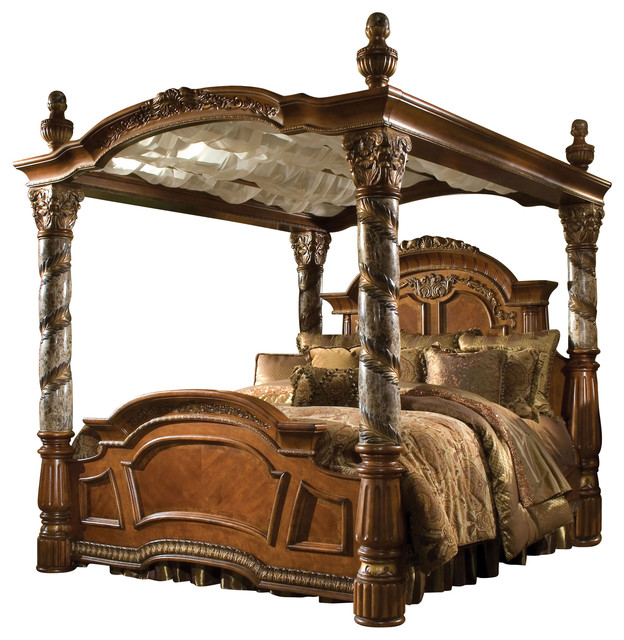 Villa valencia california king size canopy poster bed for How to buy king size canopy bed
