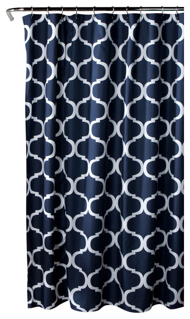 geo shower curtain navy contemporary shower curtains by lush