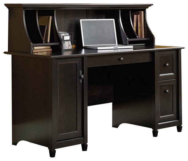 Sauder Edge Water Computer Desk and Hutch Set in Estate  : transitional desks and hutches from www.houzz.com size 614 x 526 jpeg 52kB