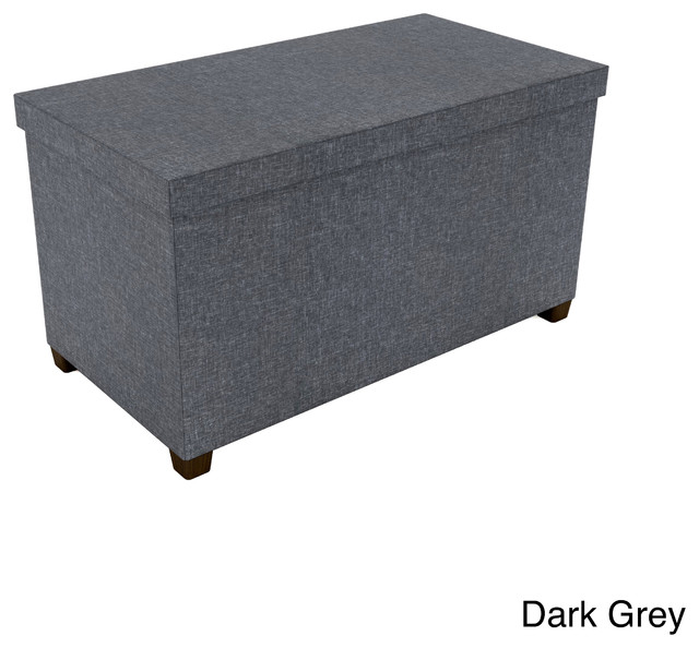 Fabric storage ottoman contemporary footstools and for Storage ottomans fabric