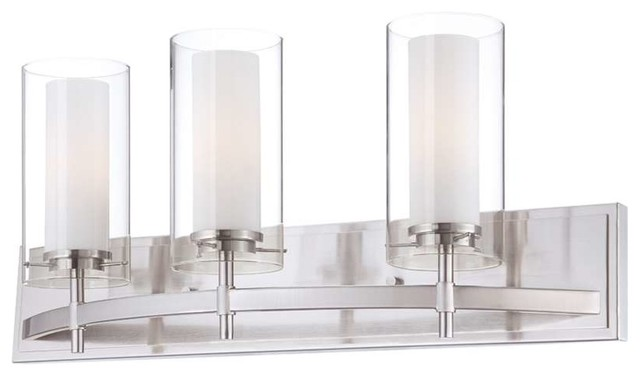 Satin Nickel Ceiling Lights Bathroom Vanity Chandelier: Forecast Lighting Hula 3-Light Bath Fixture In Satin