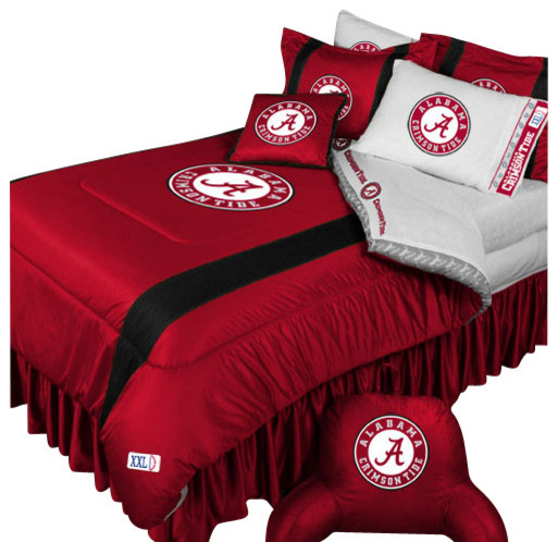 Ncaa alabama crimson tide bedding set college football bed - Linge de lit contemporain ...