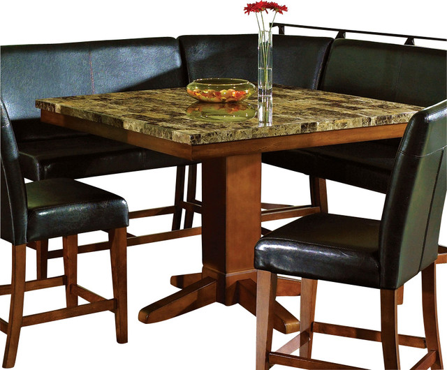 Counter Height Marble Dining Table : ... Sectional Marble Top Counter Height Table traditional-dining-tables