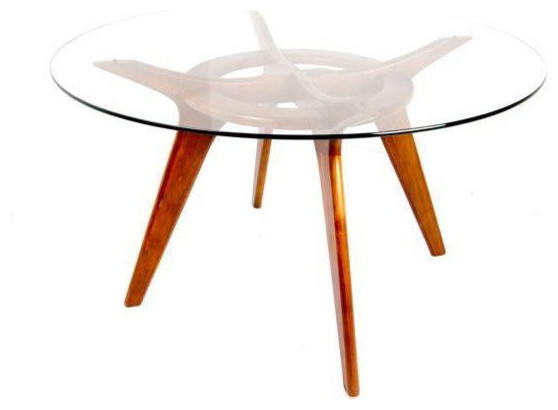 Pearsall MCM Glass Walnut Dining Table Midcentury Dining Tables